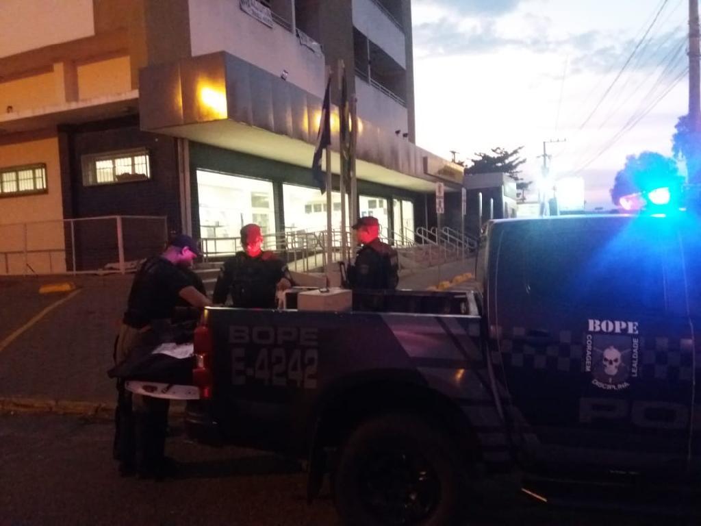 Polícia Militar impede furto a banco e veículo roubado é recuperado na ação
