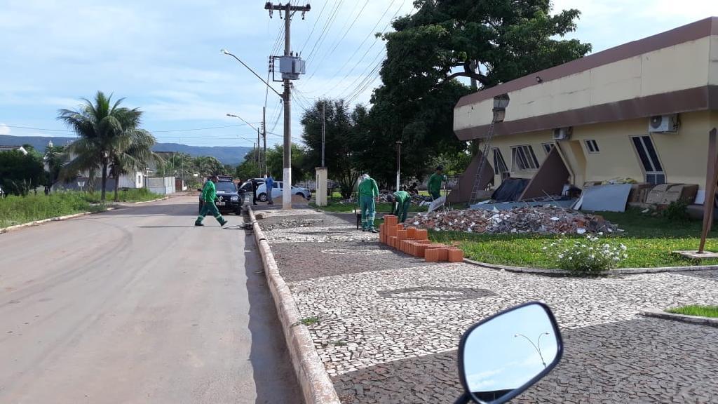 Trabalho de reeducandos em obras de infraestrutura beneficia população de Nobres