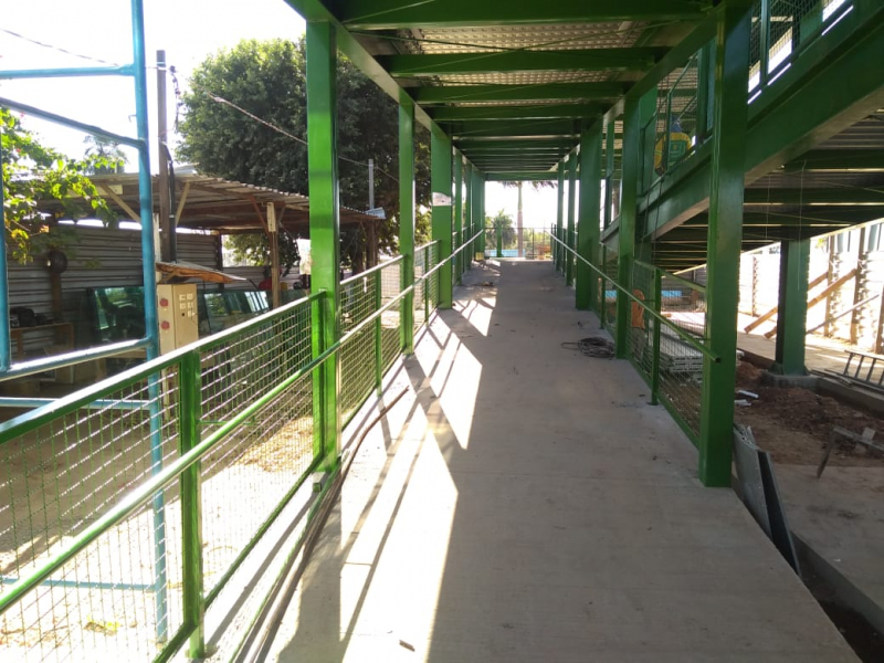 Obras do entorno da Passarela da Rodoviária entram na fase do recapeamento da via a partir desta quinta-feira (17)