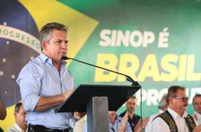 Governador Mauro Mendes e presidente Bolsonaro visitam usina de etanol de milho em SINOP (11)